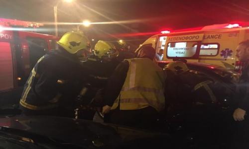 Κρήτη: Εγκλωβίστηκε μέσα στα συντρίμμια του αυτοκινήτου