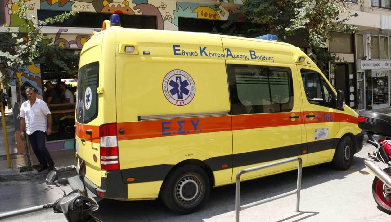 Γυναίκα έπεσε από τον πρώτο όροφο κτιρίου στο Ηράκλειο