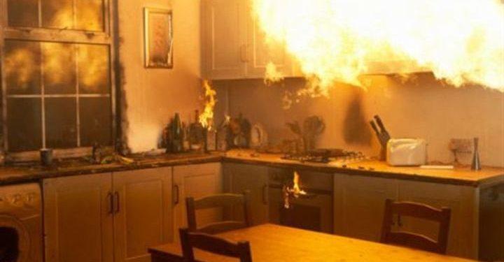 Η κουζίνα… λαμπάδιασε προκαλώντας αναστάτωση