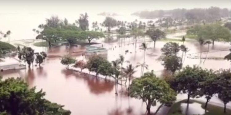 Καταστροφικό το πέρασμα του τυφώνα Lane