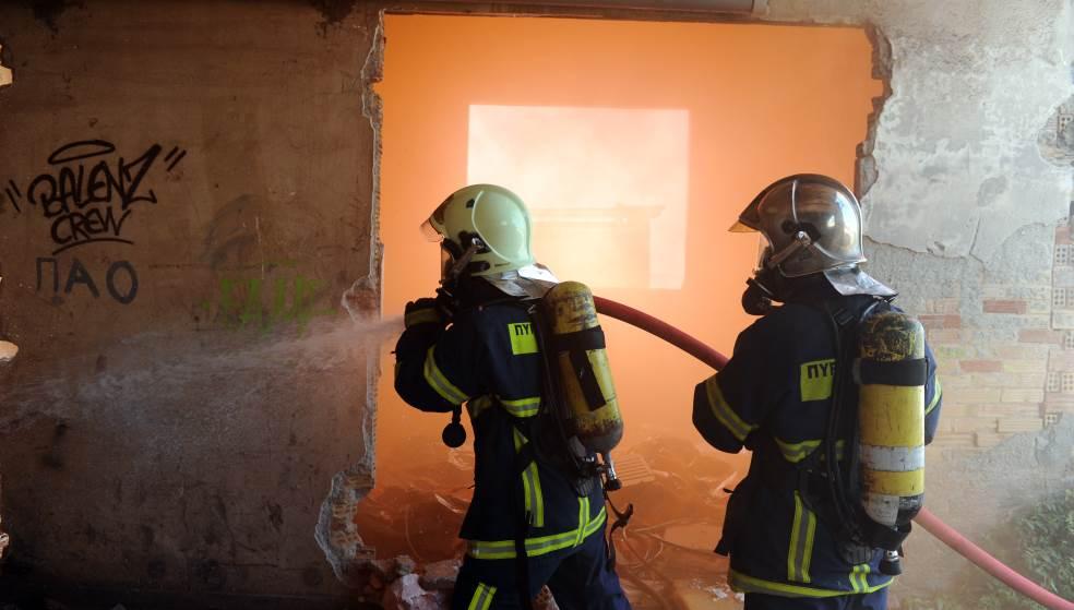Στις φλόγες ξυλουργείο και μονοκατοικία στο Ηράκλειο