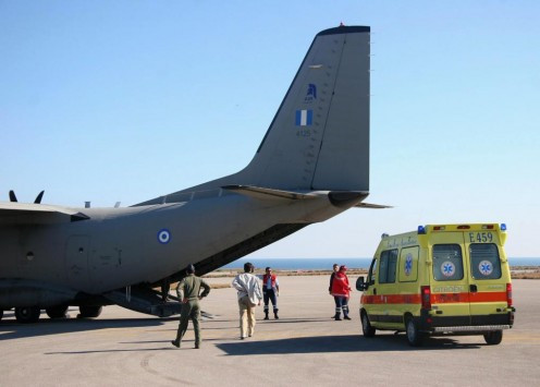 Αερογέφυρα ζωής από τη Ρόδο στη Κρήτη