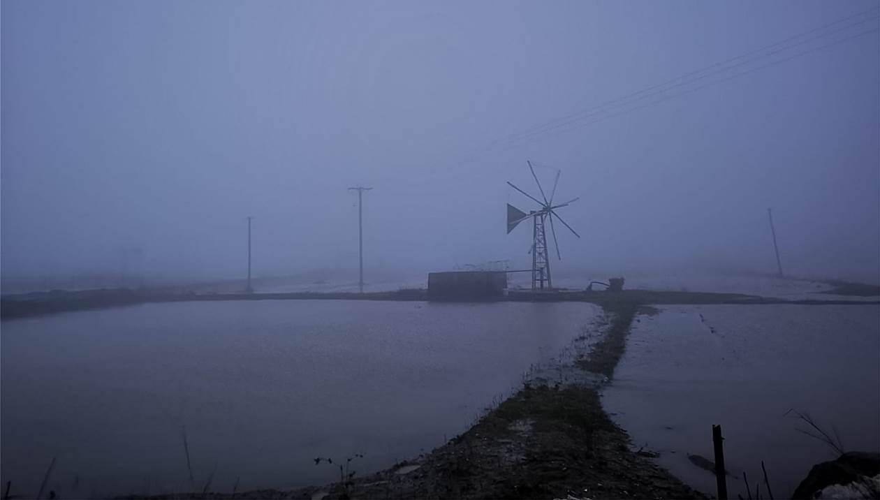 Κακοκαιρία «Ηφαιστίων»: Θάλασσα... ο κάμπος του Οροπεδίου - Απαγορεύτηκε η πρόσβαση