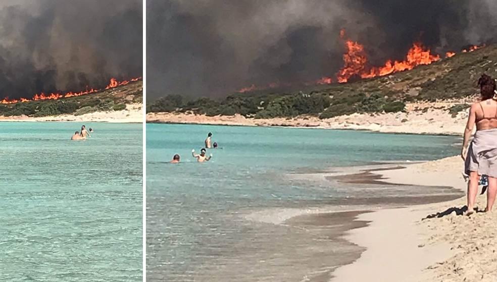 Η Ελαφόνησος πριν και μετά την πυρκαγιά: Αποκαρδιωτικές εικόνες