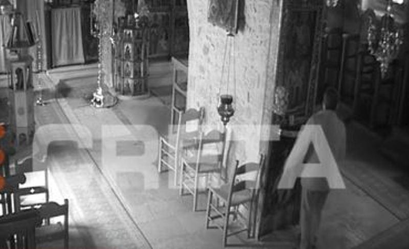 Στα χέρια της Αστυνομίας ο Ιερόσυλος που άρπαξε τη λειψανοθήκη- Δείτε το βίντεο με τις κινήσεις του