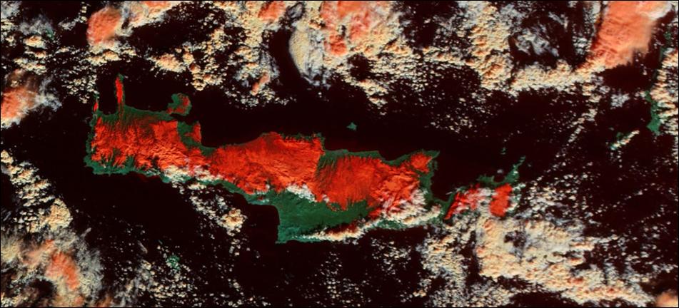 Εντυπωσιακές δορυφορικές - Μετεωρολογικές εικόνες της Κρήτης και της Ελλάδος (pics)