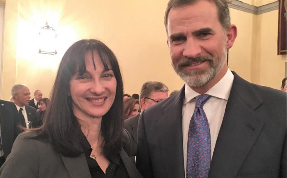 Ποιος υπουργός της κυβέρνησης συναντήθηκε με το Βασιλικό ζεύγος της Ισπανίας στη Μαδρίτη;