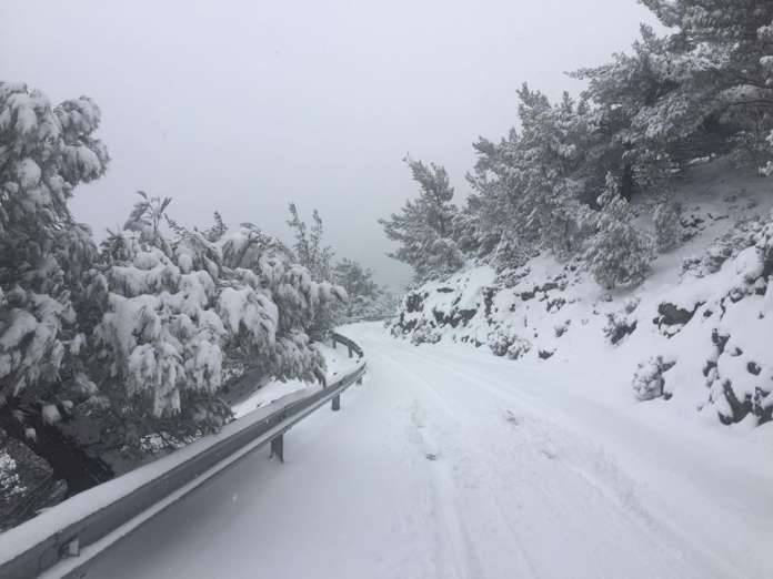 Χωρίς ιδιαίτερα προβλήματα η επέλαση του χιονιά στην Ιεράπετρα