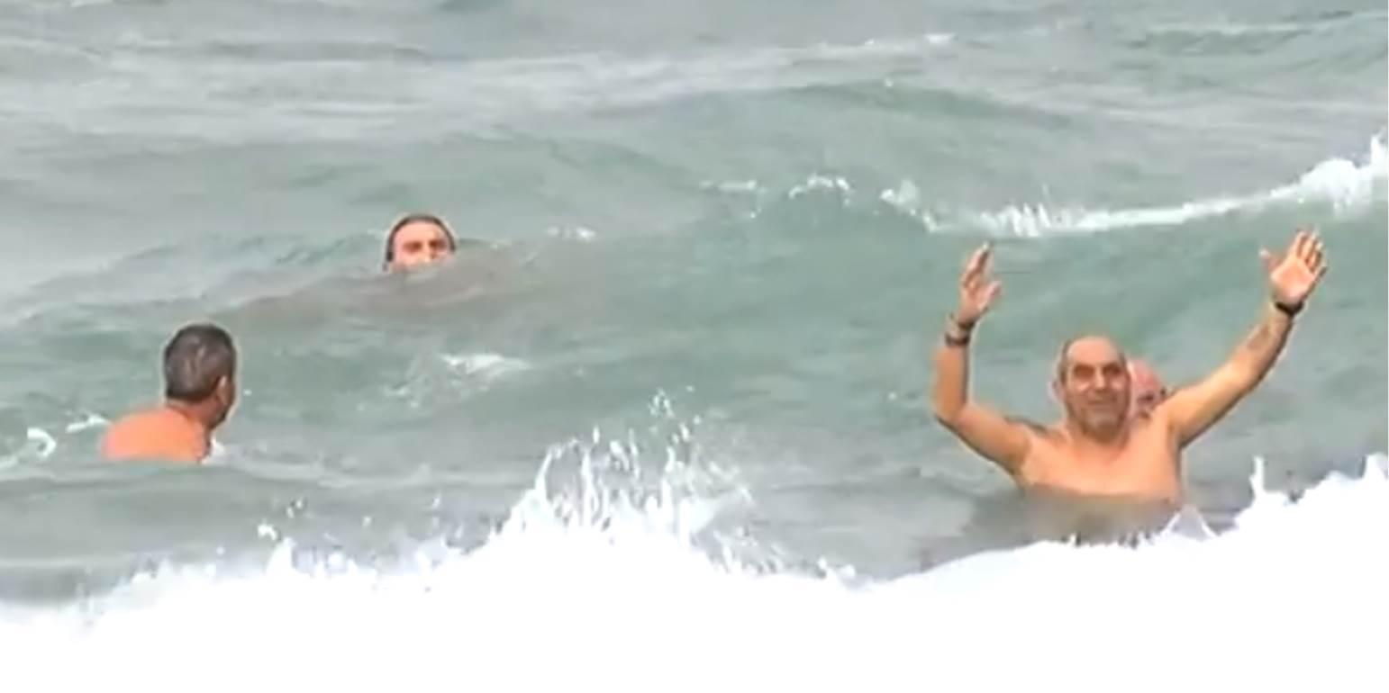 Χειμερινοί κολυμβητές έδωσαν ραντεβού στην Αμνισό Τολμηροί έκαναν βουτιές στα παγωμένα νερά!