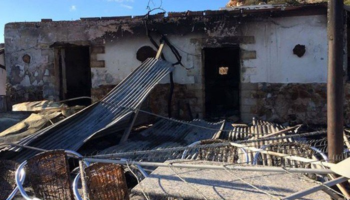 Ταβέρνα έγινε παρανάλωμα του πυρός στην Σητεία (φωτο)