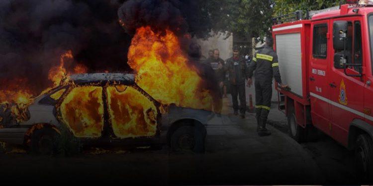 Φωτιά σε σταθμευμένο όχημα