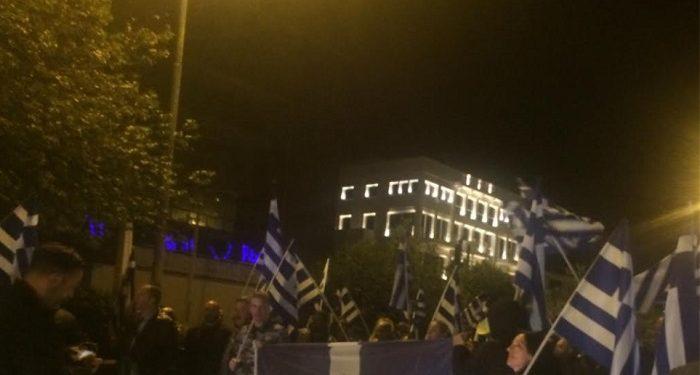Συγκέντρωση στην πρεσβεία της Αλβανίας για το θάνατο του Κωνσταντίνου Κατσίφα