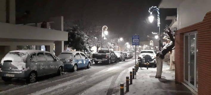 Έφτασε «αγριεμένος» ο Τηλέμαχος στην Κρήτη – Έντονη χιονόπτωση στα Ανώγεια (φώτο -βίντεο)