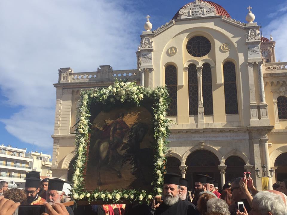 Το Ηράκλειο τίμησε τον Άγιο Μηνά- Με λαμπρότητα ο εορτασμός του Πολιούχου