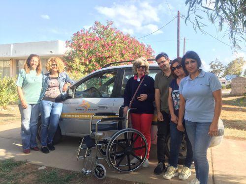 Δωρεά αναπηρικού αμαξιδίου