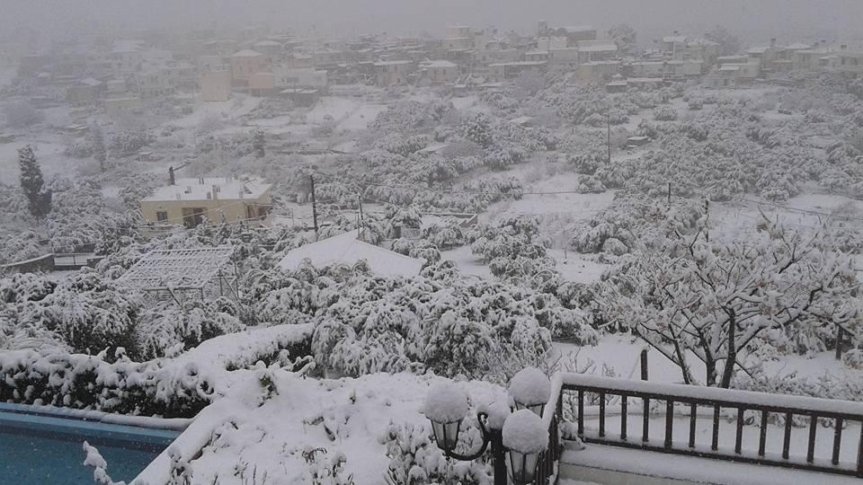 Παγετός και κλειστά σχολεία στο Δήμο Μινώα Πεδιάδας