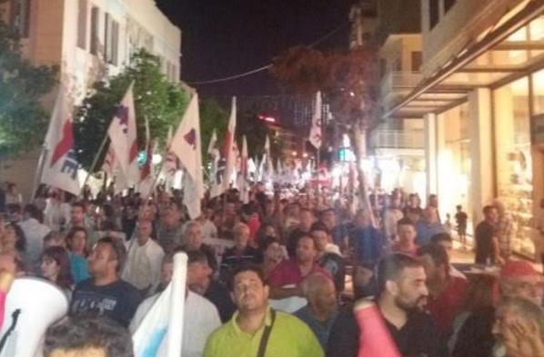Η πορεία του ΠΑΜΕ χθες στο Ηράκλειο (pics)