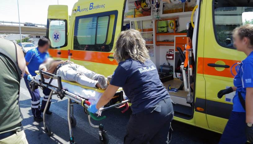 Παράσυρση πεζού στην Εθνική Οδό - Διασωληνωμένος στο νοσοκομείο άνδρας
