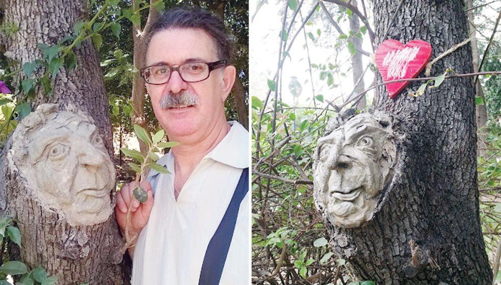 Ο Κρητικός που «χαρίζει» πρόσωπα στα δέντρα του πάρκου