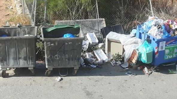 Ηράκλειο: Αγανάκτηση για τα σκουπίδια