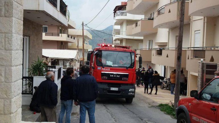 Πυρκαγιά σε διαμέρισμα στο Ηράκλειο..Εκκενώθηκε η πολυκατοικία