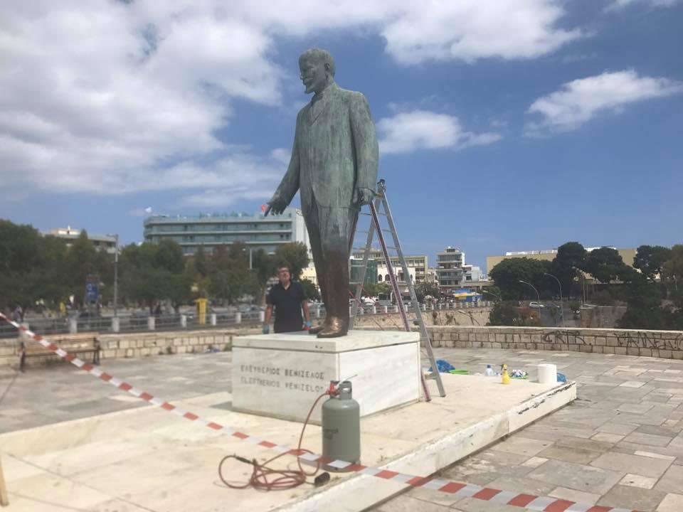 Προχωρούν σε...λίφτινγκ, στο άγαλμα του Ελευθέριου Βενιζέλου στο κέντρο του Ηρακλείου (pics)