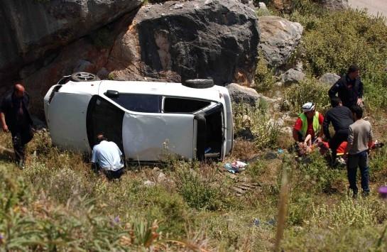 Κρήτη: Τρεις τραυματίες από το σοβαρό τροχαίο στην Εθνικό Οδό