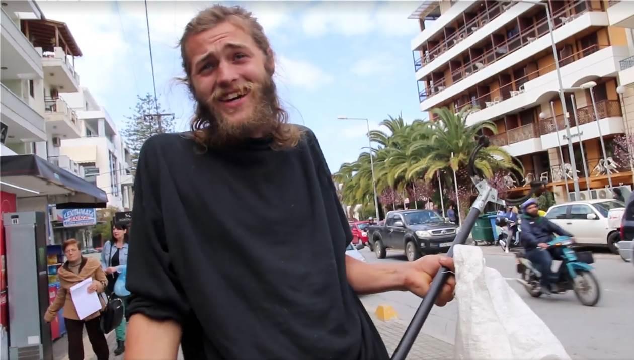 Ο τουρίστας που… αφήνει άναυδους τους Ρεθυμνιώτες