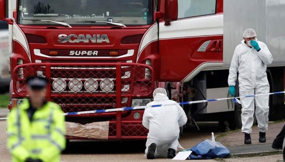 Εσσεξ: Κατηγορίες για ανθρωποκτονία και σωματεμπορία προς τον οδηγό του φορτηγού