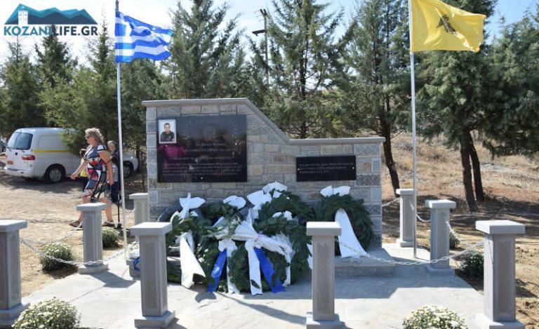 Εστησαν μνημείο για τον ειδικό φρουρό Στάθη Λαζαρίδη- Δύο χρόνια μετά τον θάνατό του (vid)