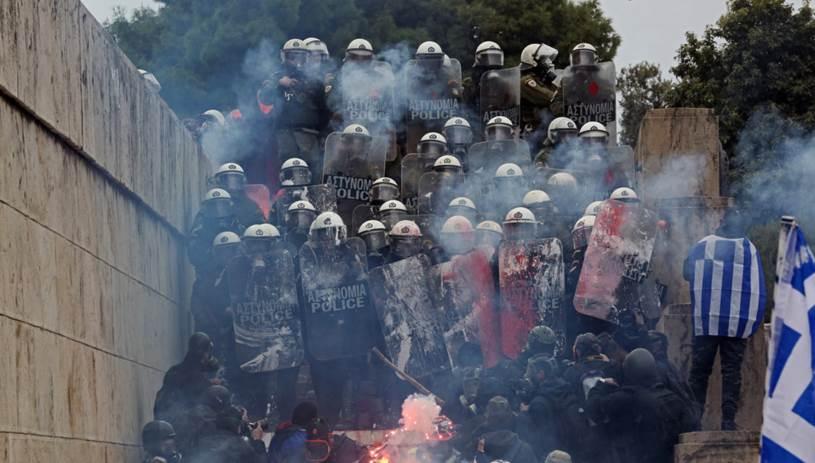 Χρήση χημικών από την αστυνομία στο συλλαλητήριο για τη Μακεδονία