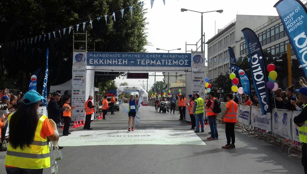 Για πρώτη φορά στον 3ο Μαραθώνιο Κρήτης - για πρώτη φορά νικητής