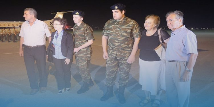 Επέστρεψαν τα ξημερώματα οι δύο Έλληνες στρατιωτικοί
