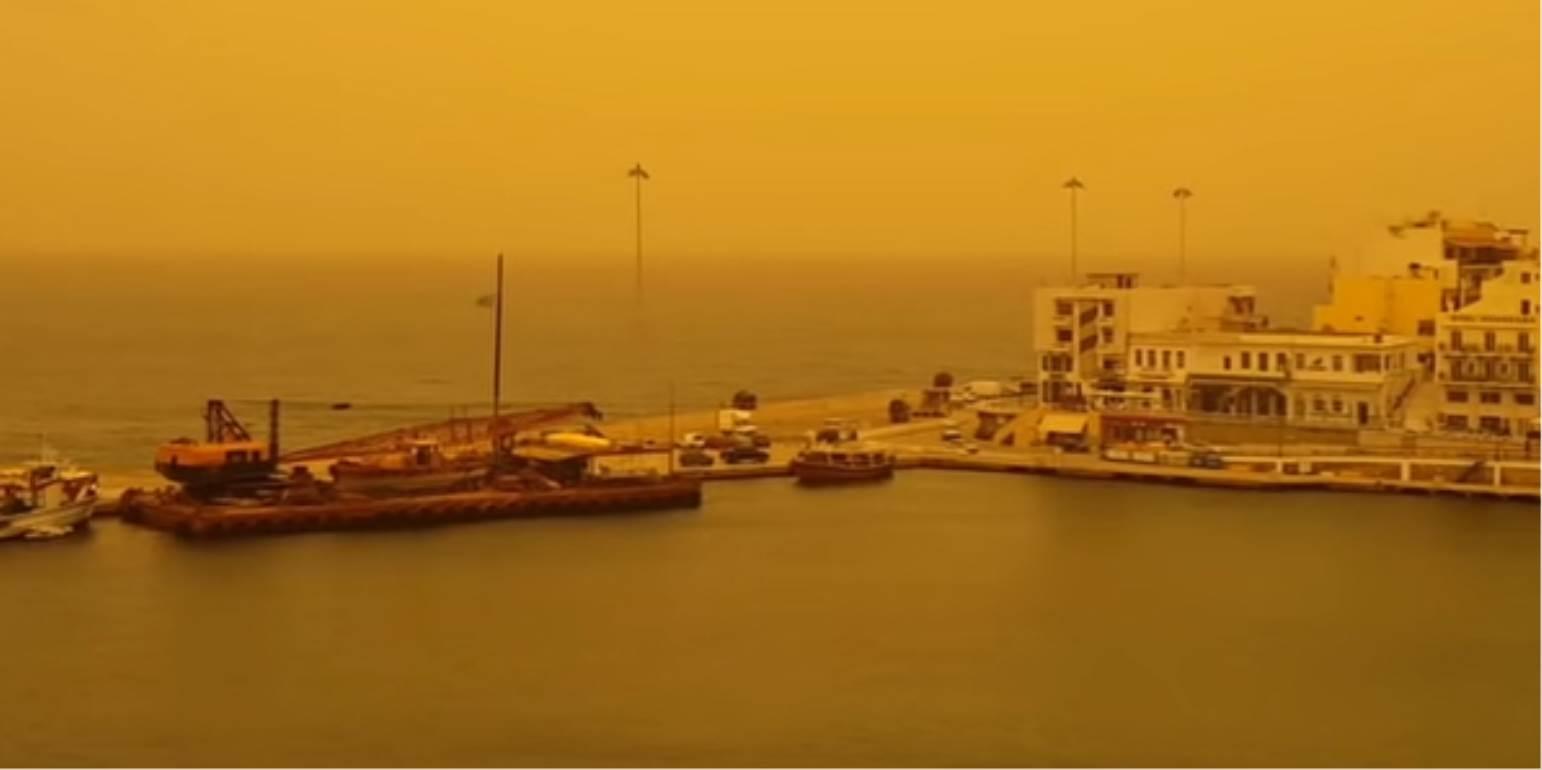 Καιρός στην Κρήτη: Νοτιάδες με σκόνη στο καταχείμωνο, βροχές και καταιγίδες