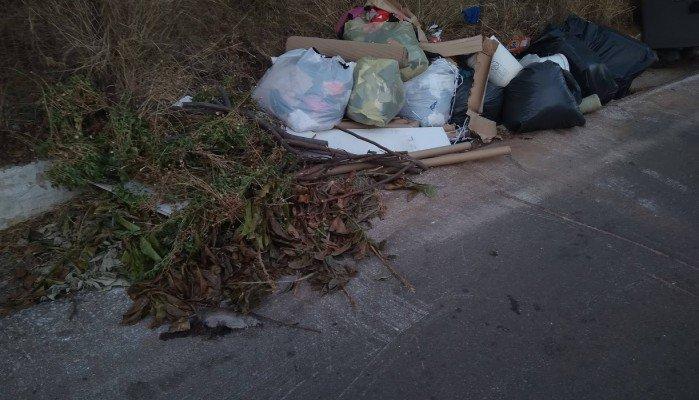 Σκουπίδια μόνο έξω από τον κάδο στον δρόμο των Περιβολίων (φωτο)