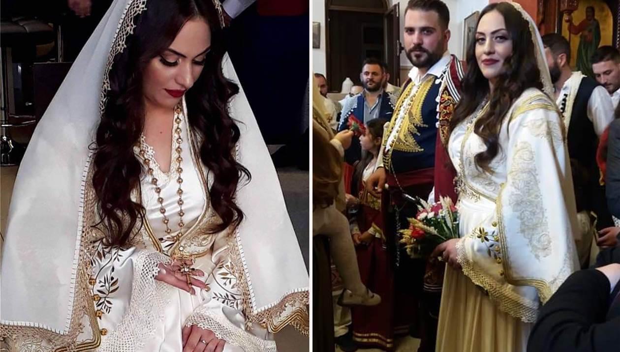 Ο πιο παραδοσιακός γάμος της χρονιάς - Ζευγάρι και καλεσμένοι ντυμένοι με κρητικές φορεσιές