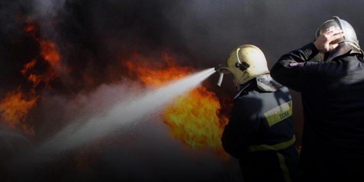Φωτιά σε εργοστάσιο ανακύκλωσης στην Κρήτη