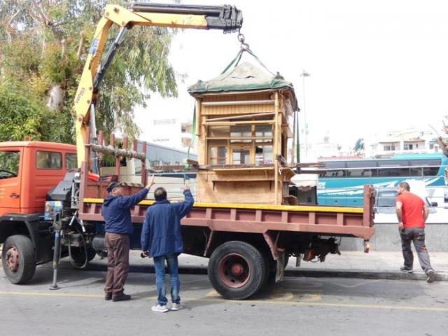 Κρήτη: Συνεχίζεται η απομάκρυνση περιπτέρων