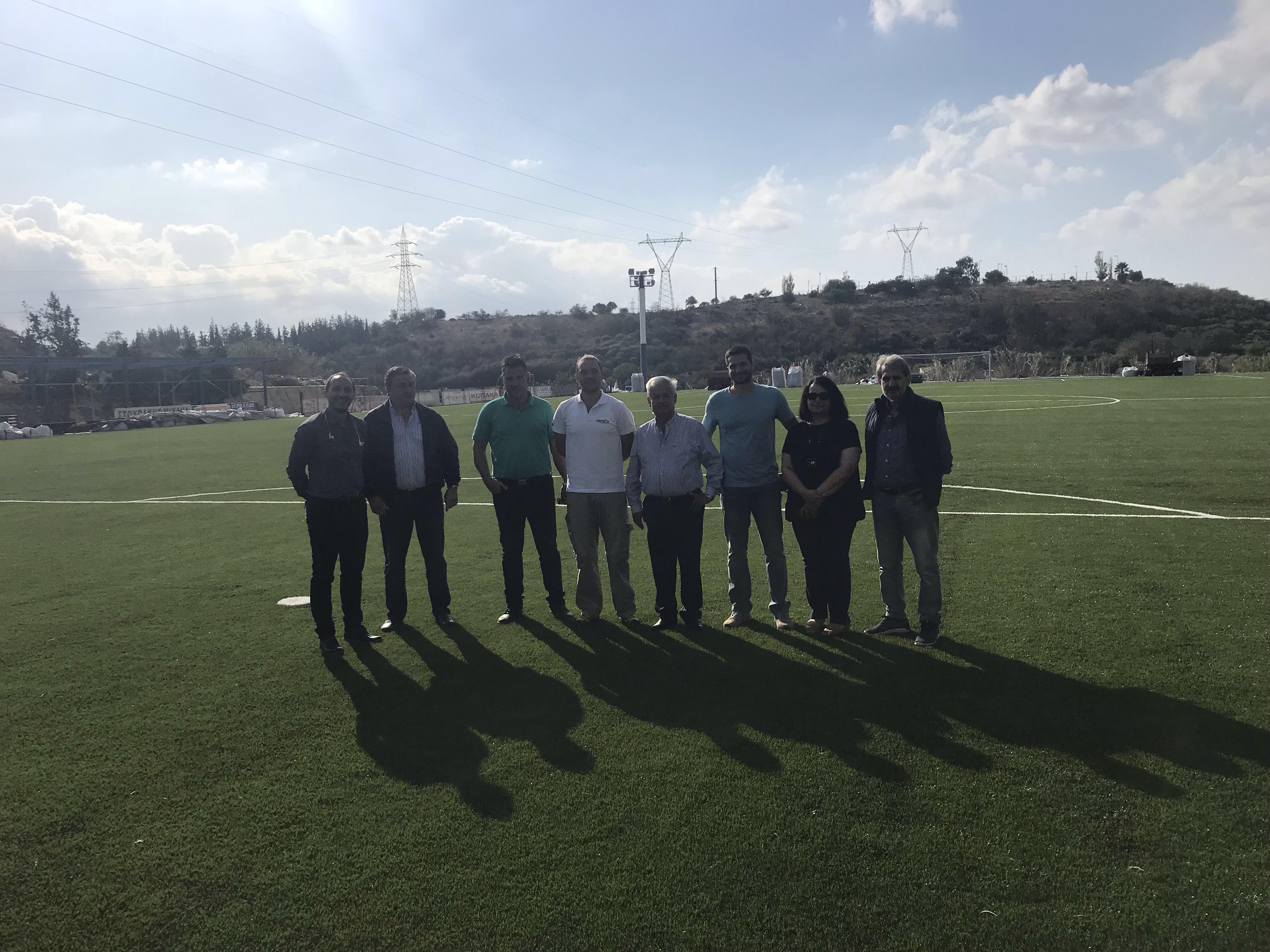 Ολοκληρώθηκε το έργο τοποθέτησης νέου χλοοτάπητα στο γήπεδο του Αλμυρού