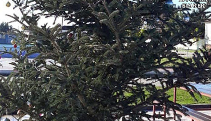 Απίστευτο: Έκλεψαν τον στολισμό από το χριστουγεννιάτικο δέντρο στο Άργος