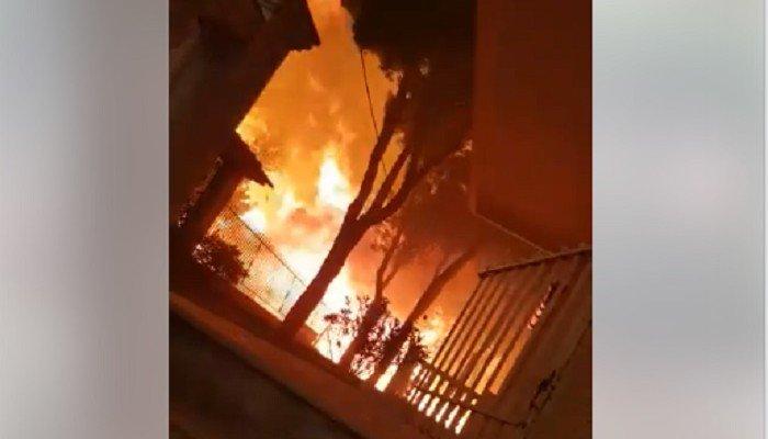 Συγκλονιστικό βίντεο: Γλίτωσε ενώ οι φλόγες τον είχαν περικυκλώσει
