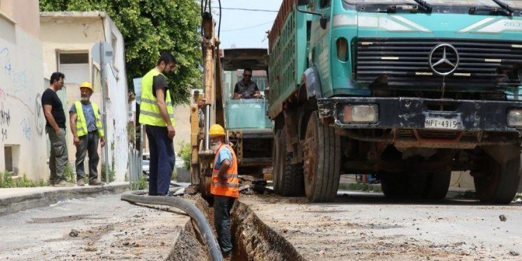 Προχωρούν τα έργα αντικατάστασης του υδρευτικού δικτύου στο Ηράκλειο
