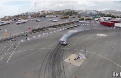 Δείτε από ψηλά τον αγώνα ντριφτ που έγινε στο λιμάνι Ηρακλείου (vids)