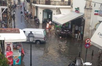 Το Ρέθυμνο έγινε… Βενετία από την κακοκαιρία! (pics)