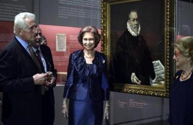 Παρουσία της Βασίλισσας Σοφίας τα εγκαίνια της έκθεσης για τον Δ. Θεοτοκόπουλο