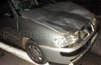 Αυτοκίνητο συγκρούστηκε με… αγελάδα στην Πρέβεζα