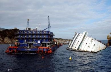 Δείτε σε... timelapse την... ανόρθωση του Costa Concordia (vid)